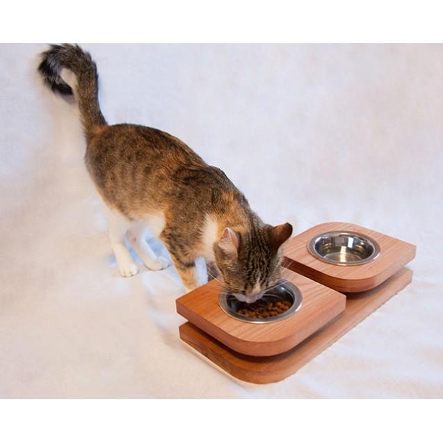 Миска для собак и кошек на подставке BLOOM- натуральный
