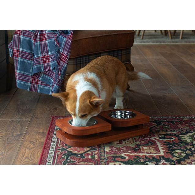 Миска для собак и кошек на подставке BLOOM- темная вишня