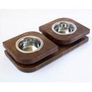 Миска для собак и кошек на подставке BLOOM- темный дуб