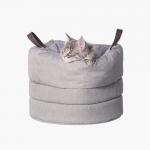 Домик для кошки сумка с регулируемой высотой Pidan  Cask Nest - серая