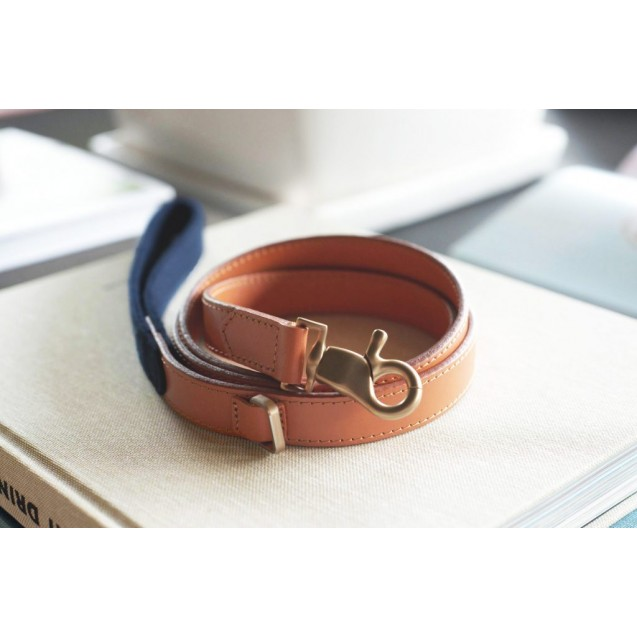 Поводок для собак Preppy Two-tone Leash in Navy Blue - синий