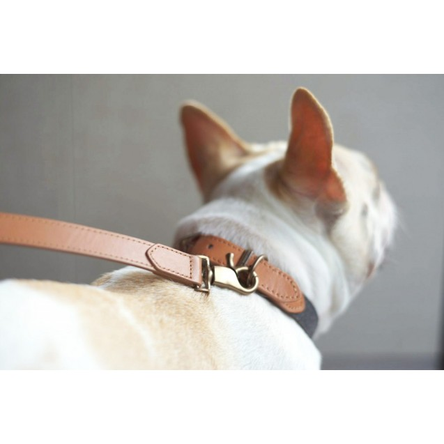 Поводок для собак Preppy Two-tone Leash in Charcoal Grey - серый