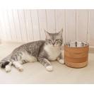 Миски для собак и  кошек на подставке RONDO - натуральный S