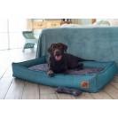Лежанка для собак и кошек BEDFOR - бирюзовая гусиная лапка