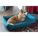 Лежанка для собак и кошек BEDFOR - бирюзовая елочка