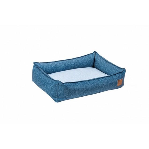 Лежанка для собак и кошек BEDFOR - синий деним