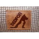 Лежанка для собак и кошек BEDFOR - бежевая гусиная лапка