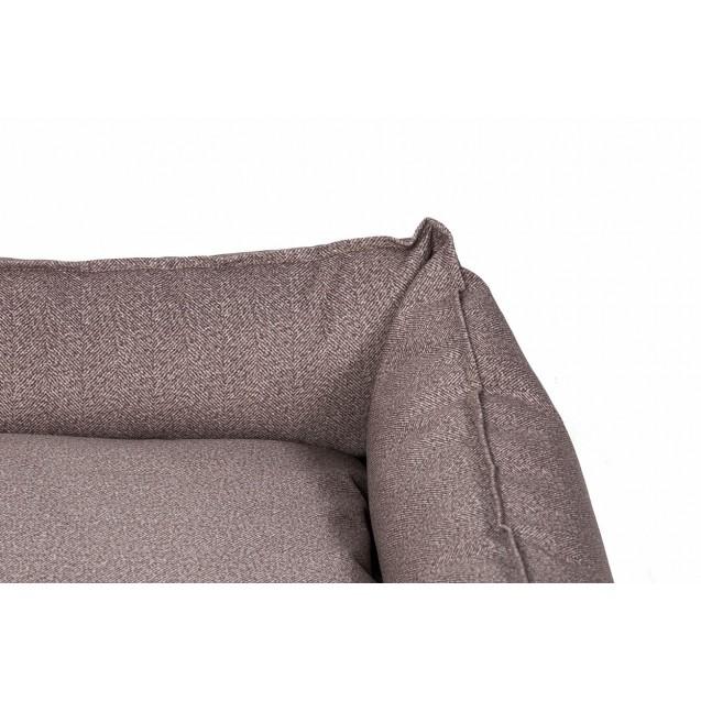 Лежанка для собак и кошек BEDFOR - бежевая елочка.