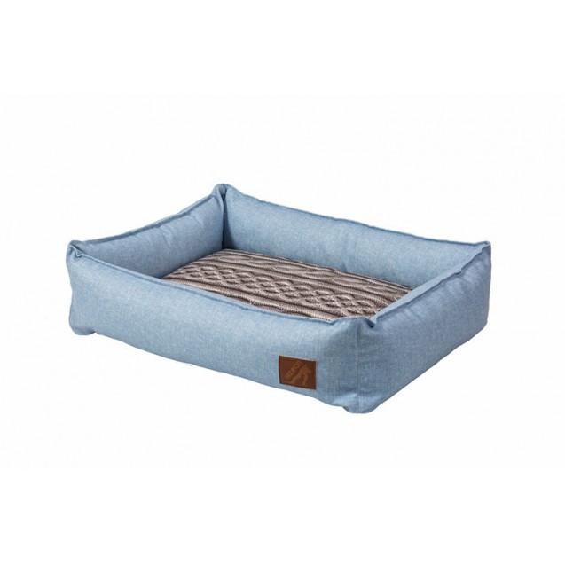 Лежанка для собак и кошек BEDFOR -  голубой деним