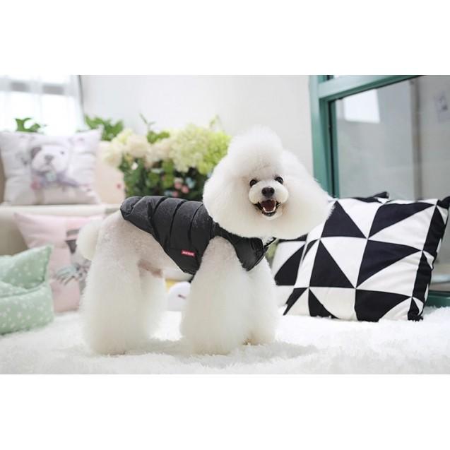 Куртка с капюшоном непромокаемая для собак, для кошек Nicovaer - черная