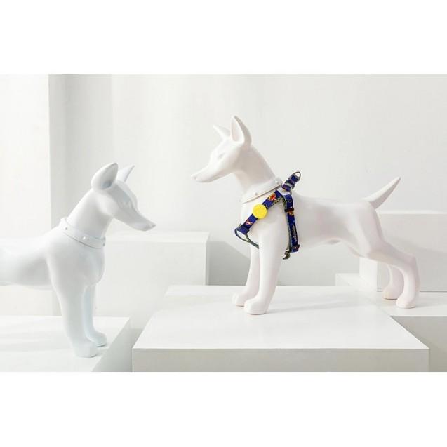 Шлейка классическая для собак, для кошек Модная Nicovaer - синяя