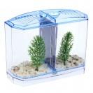Аквариумный набор: отсадник двухсекционный с грунтом и 2 растениями