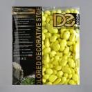 Галька декоративная, флуоресцентная, лимонная, 800 г , фр 8-12 мм