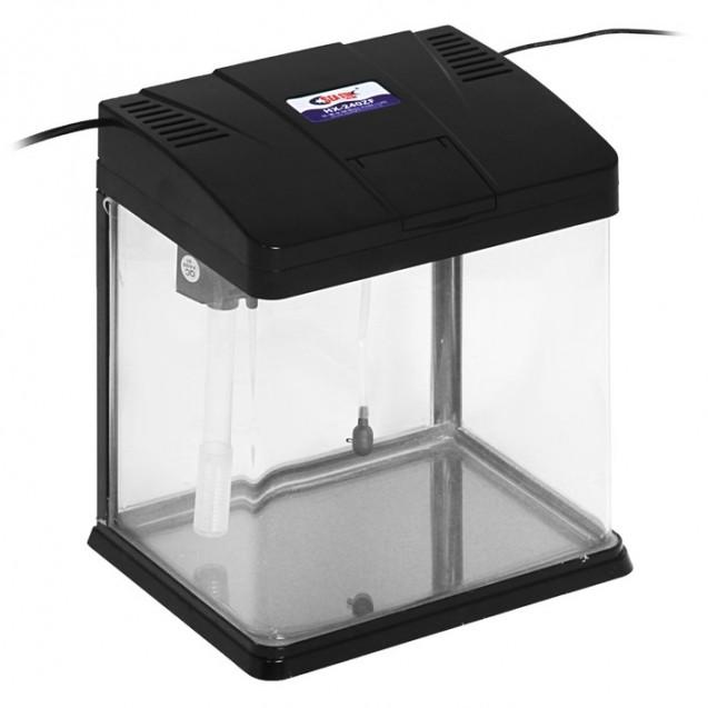 Аквариум SeaStar HX-240ZF, 12 л, черный (LED-лампа двухцветная, 3 Вт; Фильтр 200 л/ч)