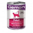 Влажный корм Gemon Cat для кошек, кусочки говядины, ж/б, 415 г