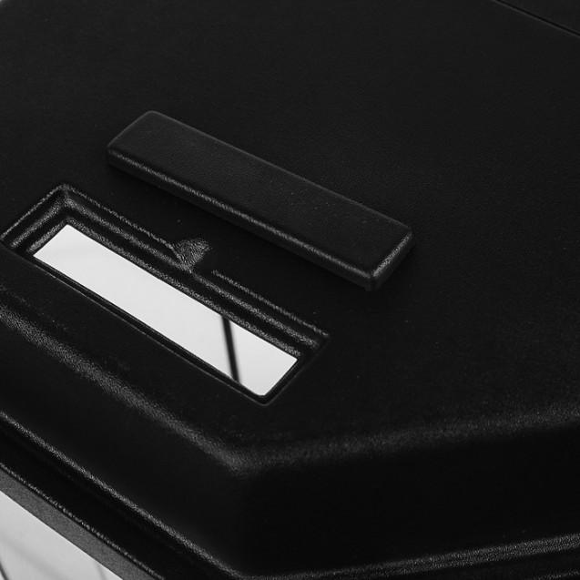 Аквариум восьмигранный с крышкой, 100 литров, 45 х 45 х 60/66см, чёрный