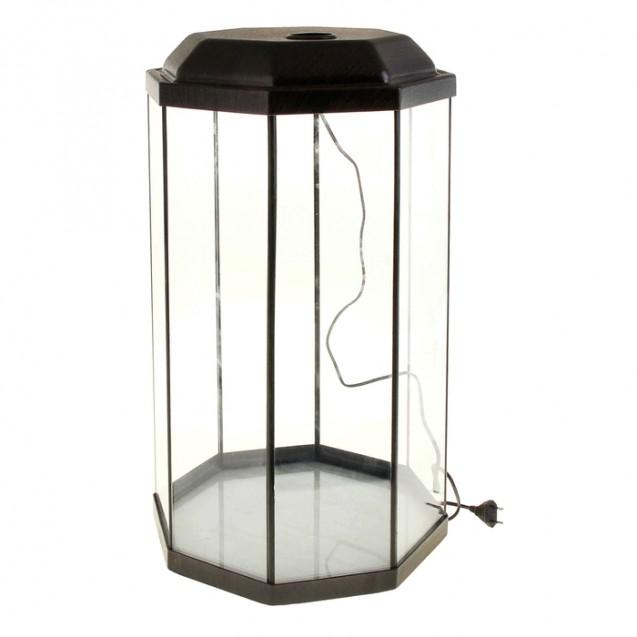 Аквариум восьмигранный с крышкой, 50 литров, 33 х 33 х 60/67 см, венге
