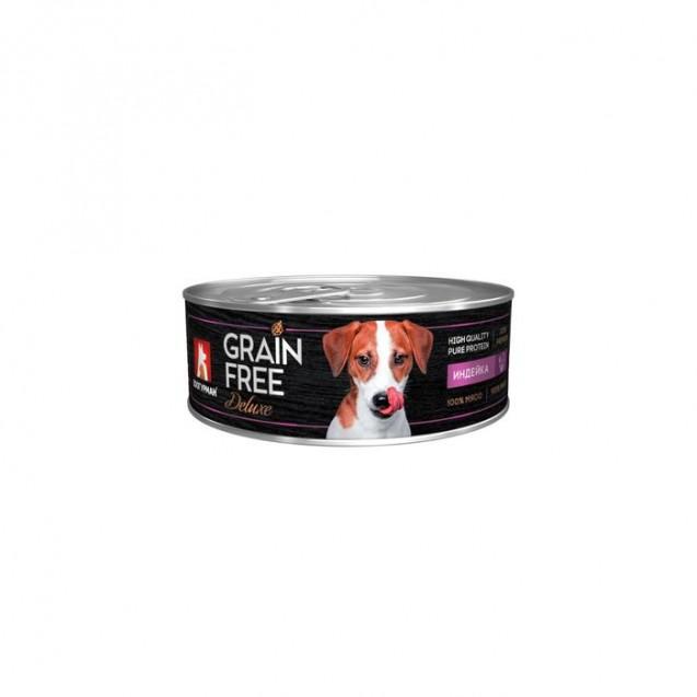 Влажный корм GRAIN FREE  индейка, для собак, ж/б, 100 г