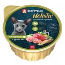 Влажный корм Holistic MIX для кошек, индейка/цукини, ламистер, 100 г
