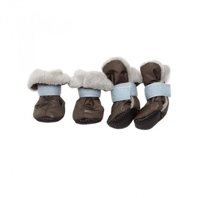 Ботиночки на меху для собак, подошва ЭВА, размер XS (4,5 х 3,5 х 8  см), микс цветов