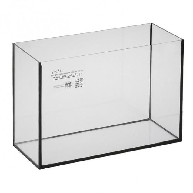 Аквариум прямоугольный Атолл без крышки, 13 литров, 30 х 16 х 26 см