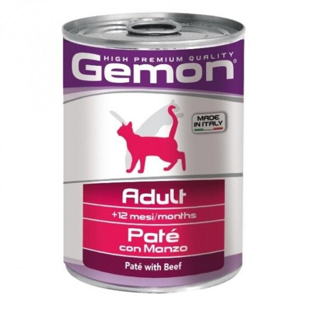 Влажный корм Gemon Cat  для кошек, паштет говядина, ж/б, 400 г