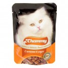 Влажный корм Chammy для кошек, печень, кусочки в соусе, пауч, 85 г