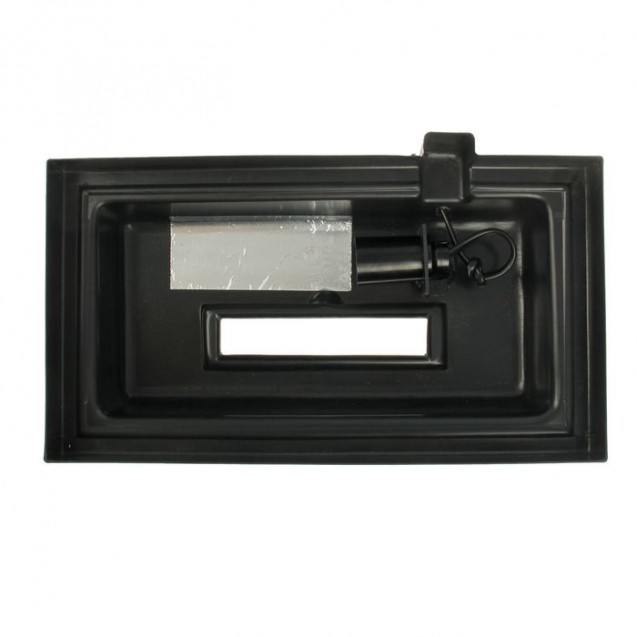 Аквариум прямоугольный с крышкой, 25 литров, 38 х 21 х 31/36,5 см, чёрный