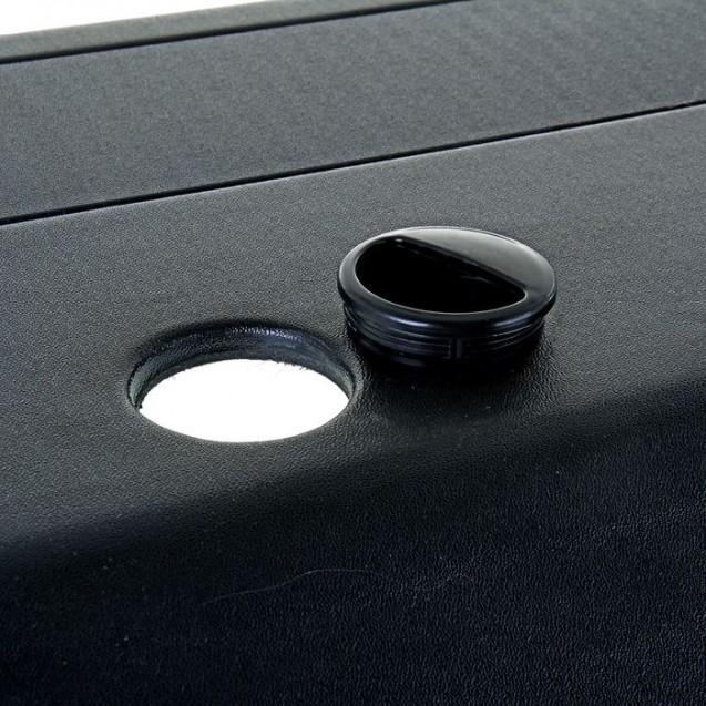 Аквариум прямоугольный с крышкой, 150 литров, 93 x 35 x 45/51 см, чёрный