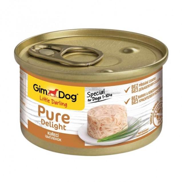 Влажный корм GIMDOG Pure Delight, для собак из цыпленка, 85 г