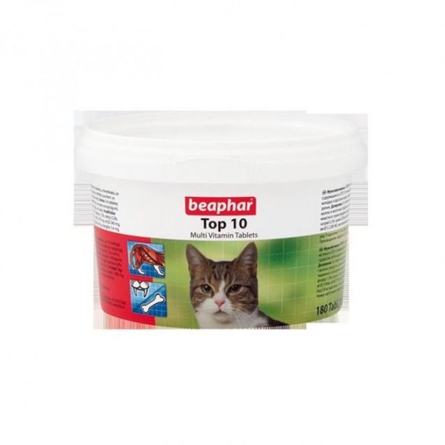 """Витамины Beaphar """"Top10"""" для кошек, 180 шт"""