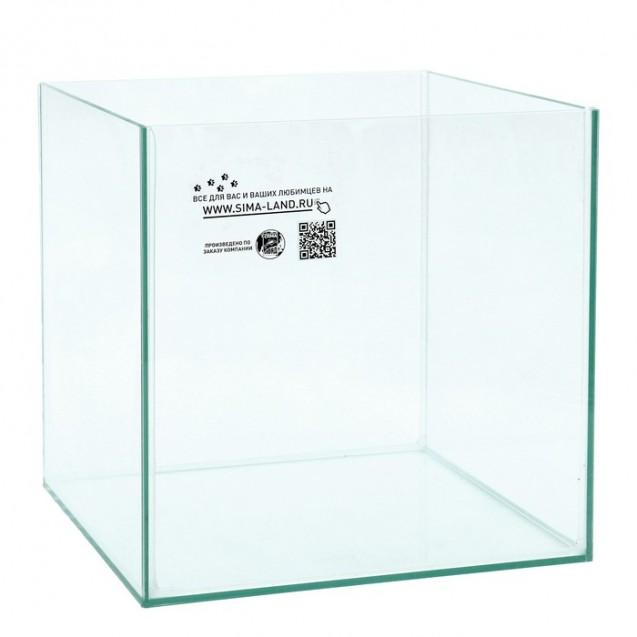 Аквариум куб без покровного стекла, 27 литров, 30 х 30 х 30 см, бесцветный шов