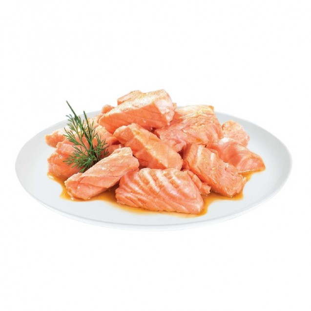 Влажный корм Brit Premium для стерил. кошек, кусочки из филе лосося в соусе, 85 г