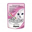 Влажный корм Simba Cat Pouch для кошек, лосось с камбалой, пауч, 100 г