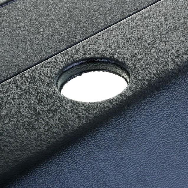 Аквариум прямоугольный с крышкой, 100 литров, 75,5 x 33 x 39,5/45,5 см, чёрный