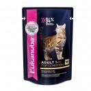 Влажный корм EUK Cat для взрослых кошек, курица в соусе, пауч, 85 г