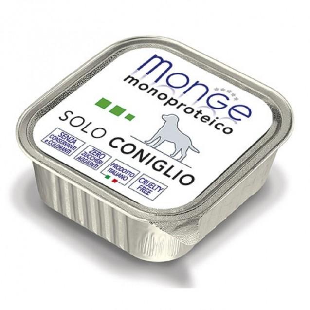 Влажный корм Monge Dog Monoproteico Solo для собак, паштет из кролика, ламистер, 150 г