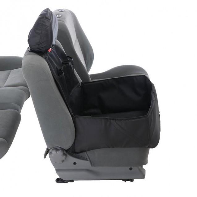 Автогамак для перевозки животных на переднее сидение с дополнительными карманами, черный, 3 слоя с ПВХ600 , чехол на подголовник