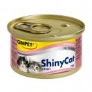 Влажный корм Gimpet Shiny Cat Kitten для кошек, с цыпленком, 70 г