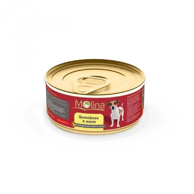 Влажный корм Molina для собак, цыпленок в желе, 85 г