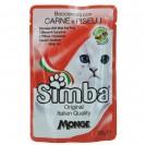 Влажный корм Simba Cat Pouch для кошек, мясо с горохом, пауч, 100 г