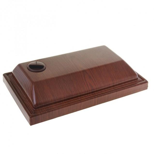 Аквариум прямоугольный с крышкой, 30 литров, 40 х 23 х 32/37,5 см, орех