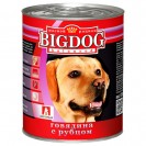 Влажный корм BIG DOG для собак, говядина/рубец, ж/б, 850 г