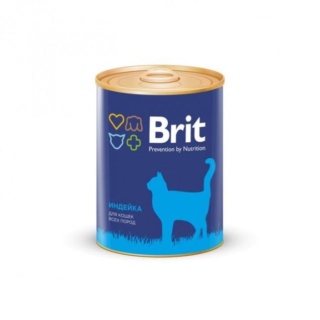 Влажный корм Brit Premium для кошек, индейка, 340 г