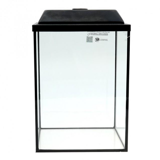 Аквариум колонна с крышкой, 36 литров, 32 х 25 х 45/50,5 см, чёрный