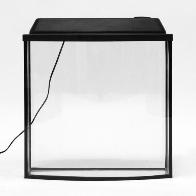 Аквариум телевизор с крышкой, 40 литров, 46х20х44 см, черный