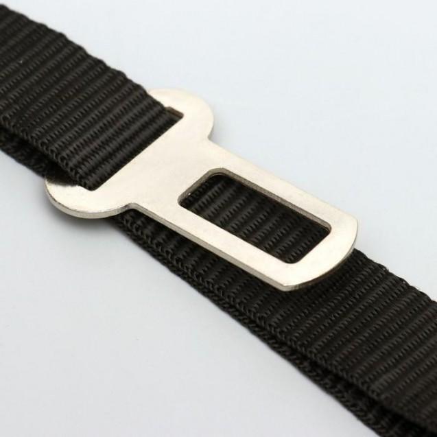 Автомобильный ремень безопасности для собак, 74 х 2,5 см, черный
