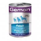 Влажный корм Gemon Dog Light для собак, облегченный паштет, тунец, ж/б, 400 г
