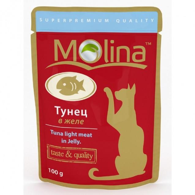 Влажный корм Molina для кошек, тунец в желе, 100 г