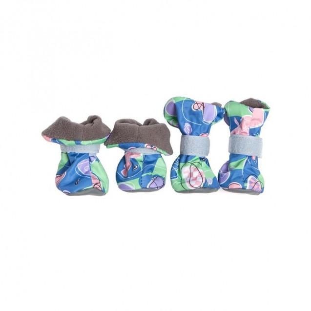 Ботиночки на флисе OSSO для собак, S, микс цветов